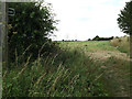 TM2564 : Footpath off the A1120 Saxtead Road by Geographer
