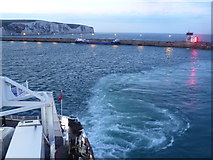 TR3341 : Inside the Eastern Docks at Dover by Marathon