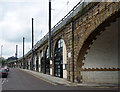NZ2463 : Viaduct, Forth Street, Newcastle by Stephen Richards
