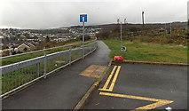 SS8591 : Path beyond the western end of Ffordd Dysgu, Maesteg by Jaggery