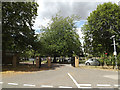 TM1746 : Cemetery entrance, Westerfield, Ipswich by Adrian Cable