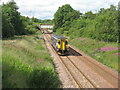 NT0263 : Train approaching West Calder by M J Richardson