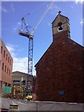 SX9192 : Tower crane, Exeter Guildhall shopping centre (3) by David Smith