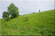 SK1750 : A glimpse of farm buildings near Fenny Bentley by Bill Boaden
