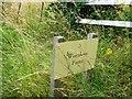 SU1766 : Wernham Farm sign by Alex McGregor