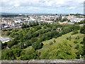 NT2573 : Princes Street Gardens from Edinburgh Castle by PAUL FARMER