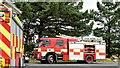 J4673 : Fire appliances near Newtownards - July 2015 (2) by Albert Bridge