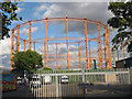 TQ3477 : Rusty Gasholder off the Old Kent Road by Stephen Craven