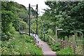 NT5639 : Footbridge over the Leader Water near Clackmae by Jim Barton
