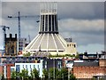SJ3590 : Liverpool Metropolitan Cathedral as seen from the Mersey by David Dixon