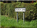 TM1965 : Church Lane sign by Adrian Cable