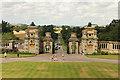 SK8932 : Harlaxton Manor Forecourt by Richard Croft