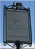 NU1530 : Sign for the Apple Inn, Lucker by JThomas