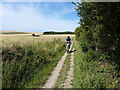 TQ3611 : Riding on Buckland Bank by Richard Law