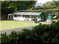 SE3643 : Bardsey Bowls Pavilion - viewed from Woodacre Crescent by Betty Longbottom