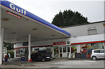 SW7239 : Lanner : Spar Petrol Station by Lewis Clarke
