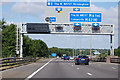 SP2385 : M6 Motorway, half mile to Junction 3A by J. Hannan-Briggs