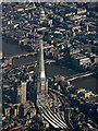 TQ3380 : The Shard and St Paul's Cathedral from the air by Thomas Nugent