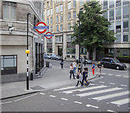TQ2979 : Entrance, St. James's Park Station by Rossographer