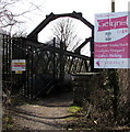 ST1381 : Welcome board for Gelynis Farm,  Morganstown, Cardiff by Jaggery
