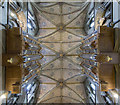 SO8554 : Ceiling and organ, Worcester Cathedral by J.Hannan-Briggs