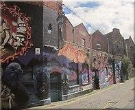 ST5973 : Graffiti, Moon Street, Bristol by Derek Harper