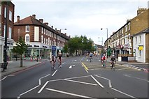TQ2075 : Cyclists on Upper Richmond Road West by DS Pugh
