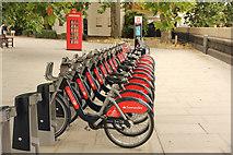 TQ2977 : Bike rank by Richard Croft