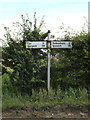 TM1667 : Roadsign on the B1077 Eye Road by Adrian Cable
