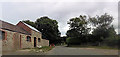SJ3209 : Farm buildings at Vron Gate by John Firth