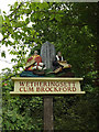 TM1266 : Wetheringsett Cum Brockford Village sign by Adrian Cable