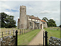 TG1633 : Wickmere st. Andrew's church by Adrian S Pye