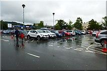 SH5638 : Tesco car park by DS Pugh
