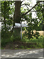 TM1268 : Roadsign on High Lane by Geographer