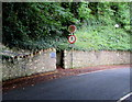 SM9438 : No pedestrians except for access sign, Quay Road, Goodwick by Jaggery