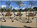 H4572 : Outdoor gym equipment, OASIS Plaza by Kenneth  Allen