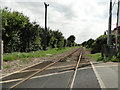 TG2533 : The south (Norwich) bound track at Antingham crossing by Adrian S Pye