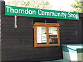 TM1369 : Thorndon Community Shop sign & Notice Board by Adrian Cable