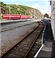 SM9539 : End of the line beyond Fishguard Harbour railway station by Jaggery
