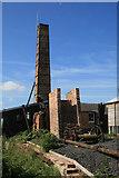 SJ6775 : Lion Salt Works - pump and chimney by Chris Allen