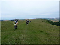 TQ4805 : On the South Downs Way near Firle Beacon by Richard Law