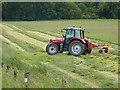NY2891 : Turning the hay by Oliver Dixon