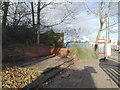 SP3378 : Sitting area and phone box by the city-bound bus stop, Warwick Road, Coventry by Robin Stott