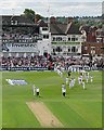 SK5838 : Trent Bridge Test Match 2015: Alastair Cook leads England on to the field by John Sutton