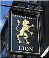 NY9864 : Sign for the Golden Lion, Corbridge by JThomas