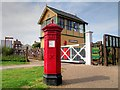 TG1543 : Penfold Postbox and Sheringham East Signal Box by David Dixon