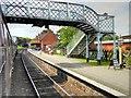 TG1141 : North Norfolk Railway, Footbridge at Weybourne Station by David Dixon