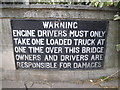 SU7682 : Old warning sign on Henley Bridge by David Howard