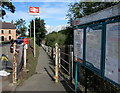 SN0120 : Information boards and access path, Clarbeston Road railway station by Jaggery
