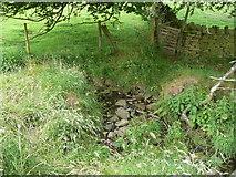 SE0322 : Stream crossing on Sowerby Bridge FP100, Link A by Humphrey Bolton